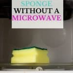 How to sanitize a sponge without a microwave. To reduce the growth of bacteria that is the leading cause of a smelly kitchen sponge, it's recommended you throw your sponge out every two weeks. These 10 absolutely easy ways to clean a smelly kitchen sponge will keep your sponges smelling fresh as the day you bought them.