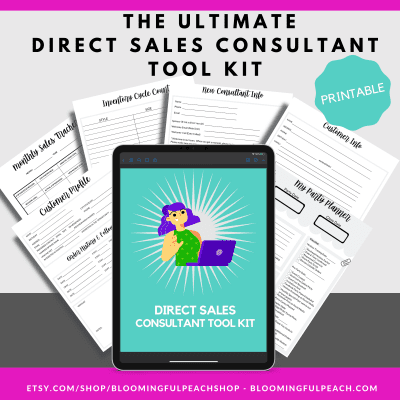 Keep track of your direct sales business with this printable pack designed for direct sales consultants.