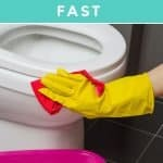 The easiest way to clean your toilet fast. You may think you know how to clean a toilet, but you may be missing a crucial task. Find out the exact process you need to take to clean your toilet like a pro