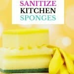 10 easy ways to sanitize kitchen sponges. To reduce the growth of bacteria that is the leading cause of a smelly kitchen sponge, it's recommended you throw your sponge out every two weeks. These 10 absolutely easy ways to clean a smelly kitchen sponge will keep your sponges smelling fresh as the day you bought them.