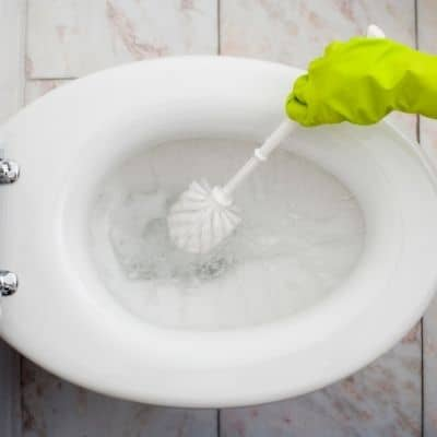How to you remove brown stains from toilet bowl