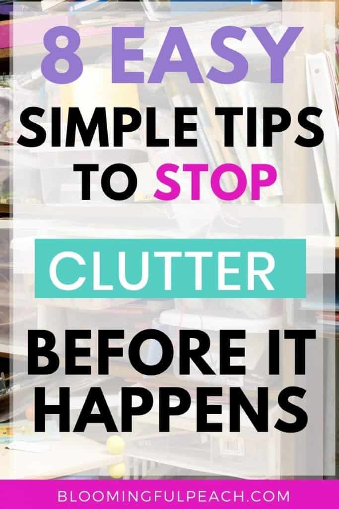 How to avoid clutter