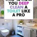 This is how to clean a very stained toilet bowl