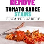 This is how to remove tomato sauce stains from the carpet