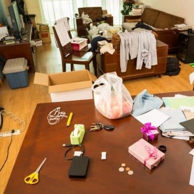 How to determine where to start decluttering this is a disorganized mess