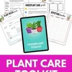 houseplant care printables