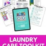 LAUNDRY CARE GUIDE PRINTABLE