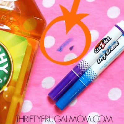 the best way how to remove dry erase marker from clothes