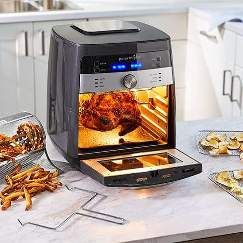 Pampered Chef Deluxe Air Fryer Rotisserie Set Bloomingful Peach