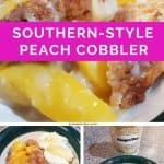 quick and easy homemade southern style peach cobbler