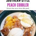 7 ingredient southern style peach cobbler