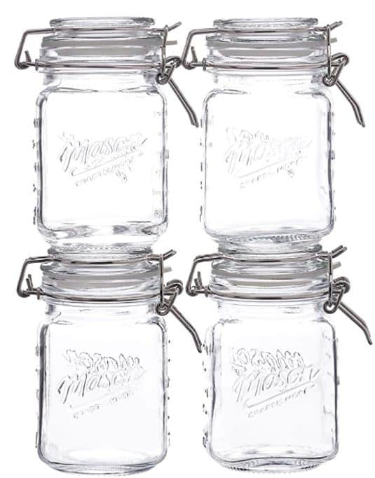 Small Mason Jar with Clamp